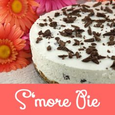 S'more Pie - a no-bake pie made with graham crackers, marshmallows, cool whip and chocolate. Light and delicious and easy to make this recipe is a keeper.