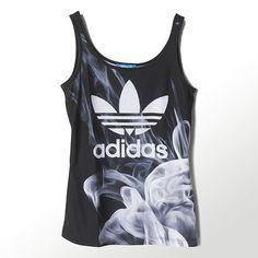 7e9697ac07 30% Off adidas Rita Ora White Smoke Tank. Black Ripped JeansAdidas FashionSporty  ...