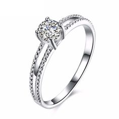 Dorjyre Sterling Silver Rings Cubic Zirconia
