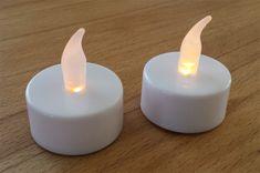 LED-Teelichter für Prickel-Windlichter - die ungefährliche Alternative zu Kerzen