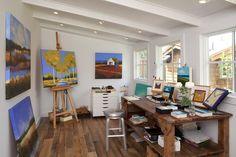 art studio design ideas for small spaces | Modern Little Art and Craft Home Studio Design