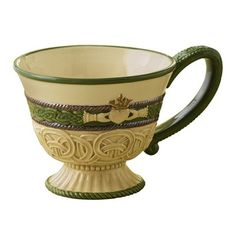 $14.00 Grasslands Road-Irish Celtic Traditions Claddagh Love Tea For One-Teapot and Cup