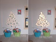backdrop for family christmas photos, plus a super fun way to decorate for Christmas