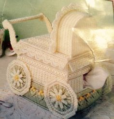Plastic Canvas Baby Carriage Part 1