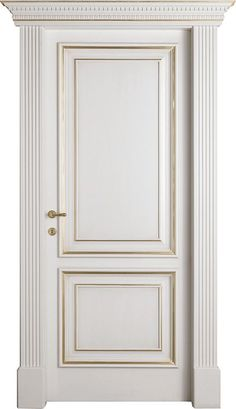 Golden Bohema interior door- painted white Decorated in gold foil with an adjustable frame - - July 19 2019 at Interior Panel Doors, Interior Door Trim, Painted Interior Doors, Wood Exterior Door, Door Design Interior, Painted Doors, Wooden Door Design, Front Door Design, Wooden Doors