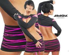 Amok Electric Skirt - UV Pink