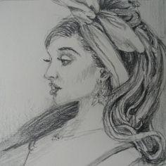 Pencil drawing of Ariana Grande. Leigh Ann Inskeep-Simpson