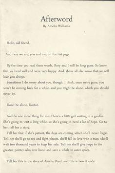Amelia Pond's Postscript/ Doctor Who  The FEEEEEELLLLLLLLSSSSS!!!!!