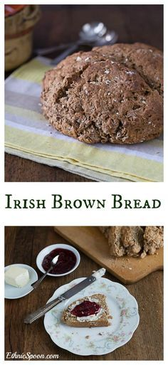 This easy to make Irish brown bread recipe is a version of Irish soda bread made with whole wheat flour, oats, molasses and buttermilk. The bread is sweet, rich and delicious. Slather it with Irish butter or dip it into a bowl of Guinness beef stew, yum! Irish Brown Bread, Irish Bread, Monkey Bread, Brown Bread Recipe, Bread Recipes, Cooking Recipes, How To Make Bread, Dinner Rolls, Cheddar