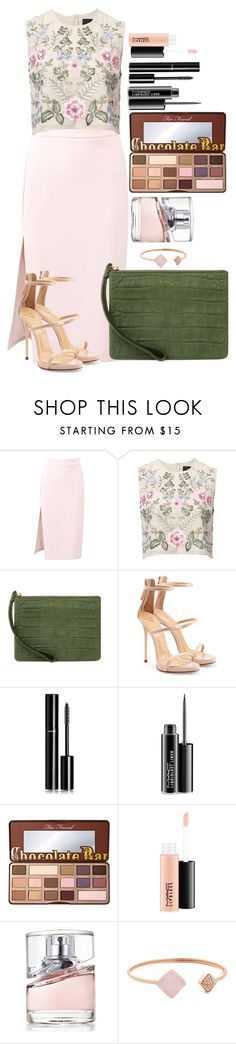 """Untitled #1457"" by fabianarveloc on Polyvore featuring MSGM, Needle & Thread, Emily Cho, Giuseppe Zanotti, Chanel, MAC Cosmetics, Too Faced Cosmetics, HUGO and Michael Kors"
