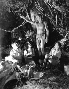 Maureen O'Sullivan and Johnny Weissmuller in Tarzan and his mate
