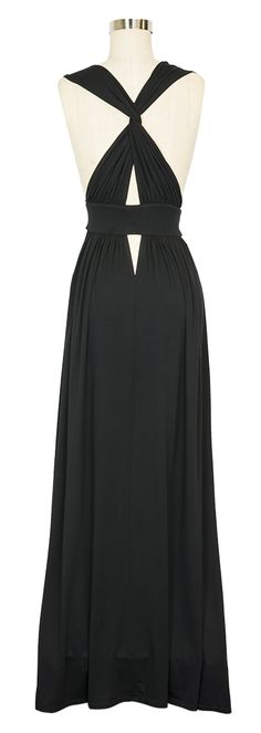 Feel confident and sexy in the black Maxi Gown by Naked Princess! This gown is the pinnacle of elegant loungewear, easily…