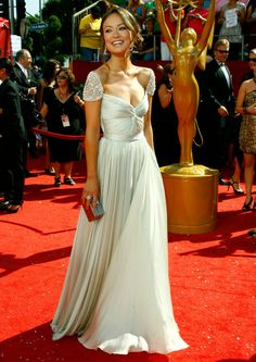 2013 New Babyonline Sexy Chiffon Beadings Cap Sleeves Sweetheart olivia wilde Celebrity Red Carpet Dresses Evening Gown hsc-003 US $99.90