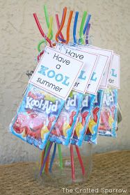"The Crafted Sparrow: Have a ""Kool"" Summer - End of Year Goodbye Gift for Classmates"