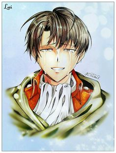 """destiel-freak67: """"My drawing of Levi Ackerman from a few years back. I'll be posting drawings n such in year order to see the differences. X3 """""""