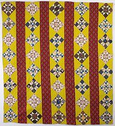 Variable Stars Quilt: Circa 1860; Pennsylvania