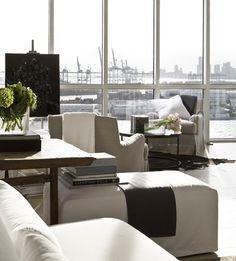 Luxuriate in the Living Room. Neutrals. Interior Designer: Michael Dawkins.