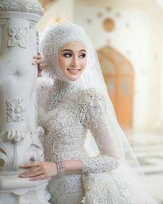 Wedding Abaya, Hijabi Wedding, Muslim Wedding Gown, Muslimah Wedding Dress, Muslim Wedding Dresses, Disney Wedding Dresses, Muslim Brides, Bridal Dresses, Wedding Gowns