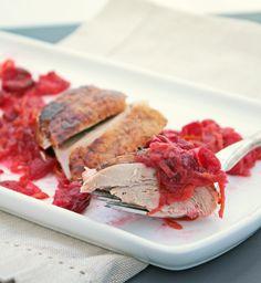 Roasted Duck with Cranberry, Orange & Cardamom Glaze (paleo/primal)