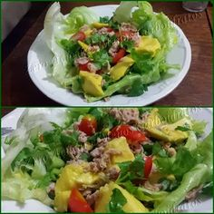 salada deliciosa de atum com abacate