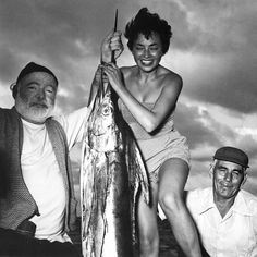 d Ernest Hemingway,his boatman,and Inge Feltrinelli (and a very inactive marlin) / Self-portrait really began Ms. Hemingway Cuba, Ernest Hemingway, New York Times, Ny Times, Best Books Of 2014, Photography Career, Vintage Photography, Fishing Photos, Fidel Castro