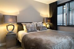 Projecten - Maison Manon Bedroom Inspo, Bedroom Decor, Modern Window Treatments, Luxury Living, My Room, New Homes, Villa, Interior Design, House Styles