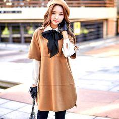 Black frill loose sweatshirt dress