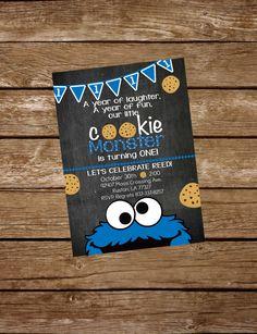Cookie Monster Birthday Invite by KarliColesInvites on Etsy