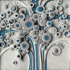"""Купить панно из натуральной кожи """" Древо..."""" - комбинированный, абстракция, древо жизни, весна"""
