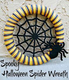 Spooky Halloween Spider Web Wreath | It's Always Ruetten #SpookySweepstakes