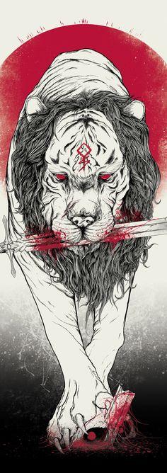 """Beast of War"" Art Print by MindkillerINK on Society6."