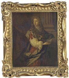 Portrait of Sir Thomas Isham, small three-quarter-length, in a blue cloak