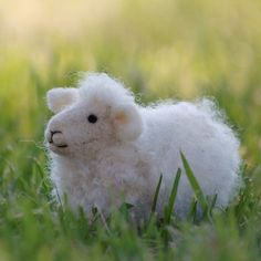 What a sweet little felted lamb from Bear Creek Design on Etsy