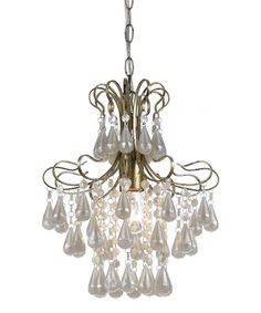 """Look what I found on #zulily! Tiffany Pearl Mini Chandelier #zulilyfinds   $70 14""""h x 12"""" diameter...  great price for size and love the pearl."""