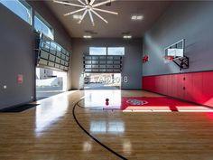 Home Basketball Court, Basketball Court Flooring, Basketball Room, Sports Court, Billionaire Homes, Metal Barn Homes, Barndominium Floor Plans, Barns Sheds, Home Sport