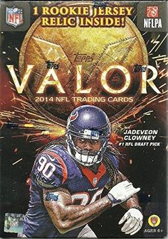 2014 Topps Valor NFL Football Factory Sealed Retail Box with 7 Packs and ROOKIE RELIC Card ! Look for Rookie Cards and Autographs of Johnny Manziel,Blake Bortles,Teddy Bridgewater, and Many More ! Topps