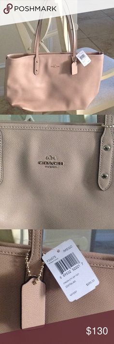 Coach Tote Brand new with tags Coach Tote.  Gorgeous and multipurpose.  Bag is tan in color. Coach Bags Totes