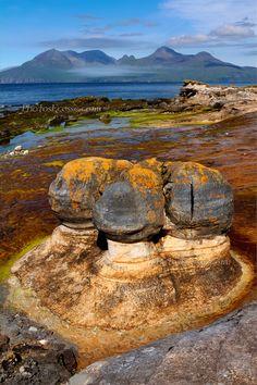 Laig Bay . Sandstone Concretions. Isle of Eigg. Scottish Highlands and Islands.
