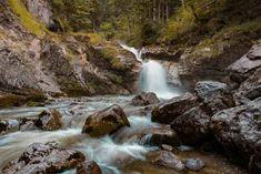 Die Kuhfluchtwasserfälle zu Beginn der Wanderung