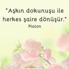 Aşkın dokunuşu ile herkes şaire dönüşür... Platon