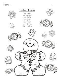 Gingerbread Man Sight Words: