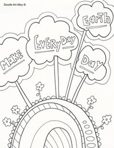 Earth Day Coloring Pages At Celebration Doodles From Doodle Art Alley Free And Printable