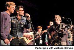 Charlie singing with Jackson Browne