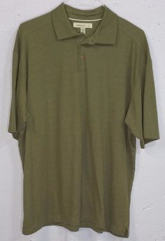 Joseph & Feiss Mens Olive Green Pima Cotton/Polyester Short Sleeve Polo Shirt XL #JosephFeiss #PoloRugby