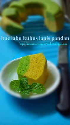 rina rosyidah kitchen: Kue labu kuning kukus lapis pandan Kue Lapis