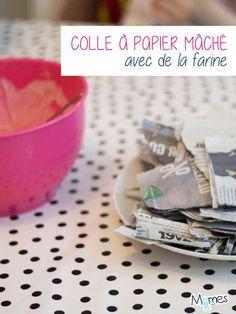 Paper mache glue - La colle à papier maché papier maché glue Paper Mache Sculpture, Pinterest Blog, Halloween Diy, Diy For Kids, Activities For Kids, Diy And Crafts, Voici, Fursuit, Ideas