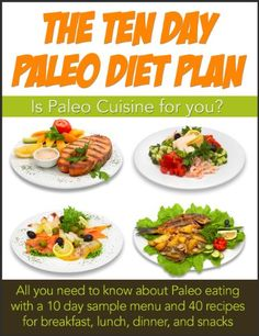 Paleo 10 Day Diet Plan with 40 Paleo Healthy Weight loss recipes for breakfast, lunch and dinner