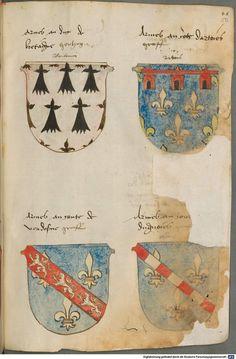 Tirol, Anton: Wappenbuch Süddeutschland, Ende 15. Jh. - 1540 Cod.icon. 310  Folio 50r