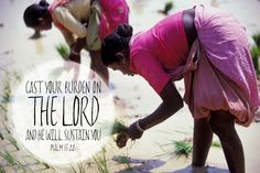 Cast your burden on the Lord...#Psalm55