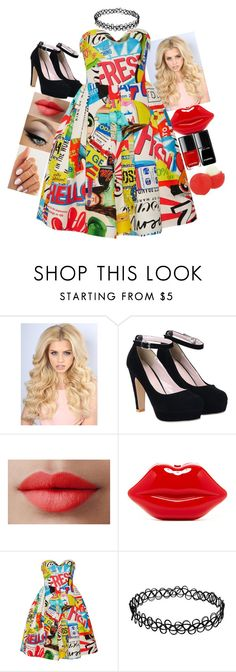 """Dangerous Woman"" by coconutgotchaday ❤ liked on Polyvore featuring LORAC, Moschino and Eos"